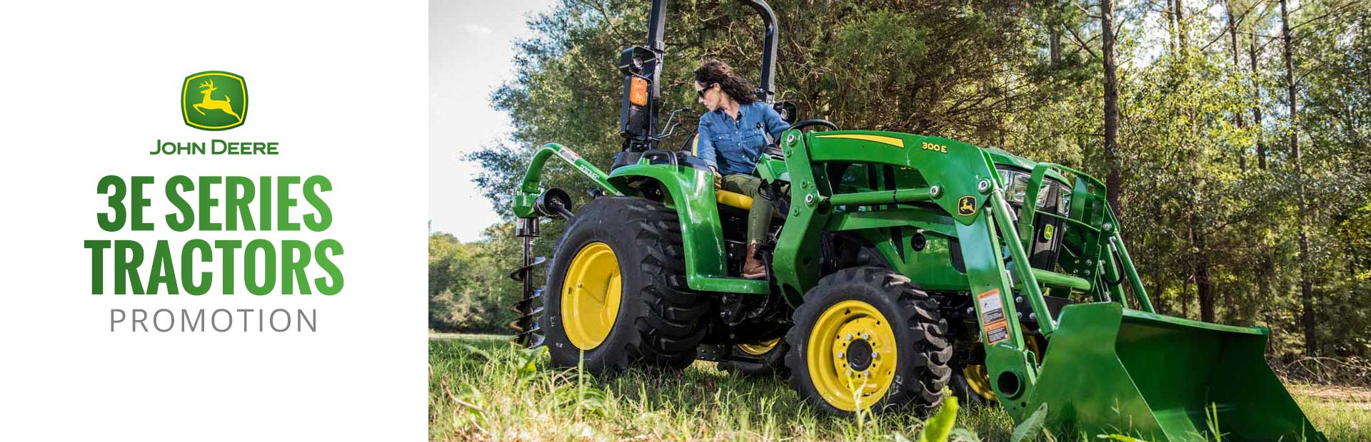 John Deere 3E Series Tractors: Click here to view the models.